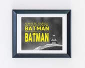 READY to SHIP 8 x 10! Lego Batman Always be yourself unless you can be Batman in Yellow 8 x 10 Photograph Print