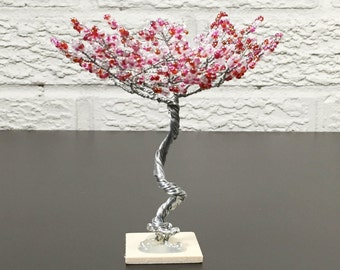 ON SALE 50% OFF Mini Zen Garden Tree - Pink and Red