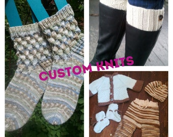 Custom hand-knit item slot