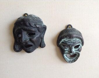 Italian tragedy  copper masks