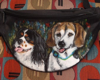 Custom Hip Bag aka Bum Pack painted with your pet