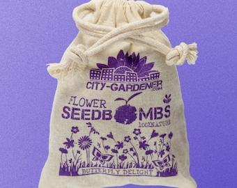 "Seed Bombs ""Butterfly Delight"", 10 walnut sized & handmade seed balls"