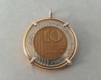 Coin jewley. Personalized coin Bezel.