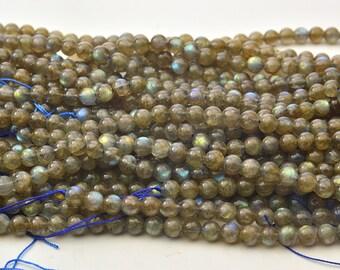 """15.5"""" 6MM   Labradorite  Gemstone Round Bead"""