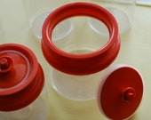 Orange Tupperware Storage Containers-Set of 5