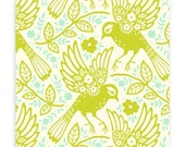 Up Parasol Meadowlark in Chartreuse by Heather Bailey for Free Spirit Fabrics HB047- Half Yard or By the Yard