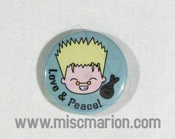 Trigun Button, Magnet or Keychain 1.5 Inches
