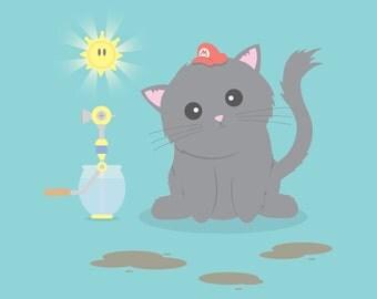 Super Mario Sunshine Cat
