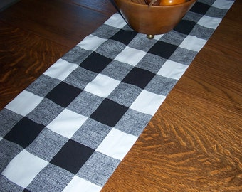 Black and White Check Runner - CUSTOM TABLE RUNNER - Premier Prints - Buffalo Check - Buffet Table - Wedding - Dinner Party - Baby Shower