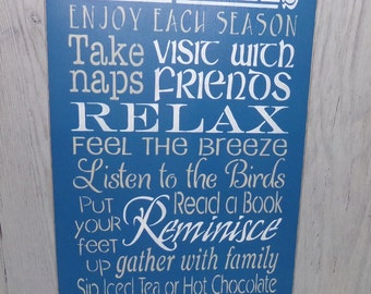 Deck Rules, Deck Sign, Porch Sign, Patio Sign, Porch Rules, Welcome Sign, Outdoor Sign, Patio Rules, Backyard Sign
