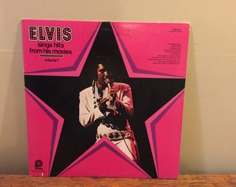 "Elvis ""Sings Hits From His Movies"" vinyl record"