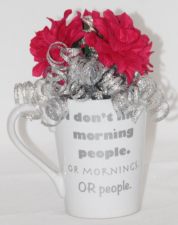Valentines day flowers morning people mug by for Valentines day flowers for him