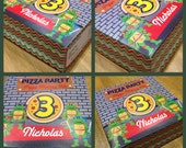 Personalized Printable Pizza Box Party Favor