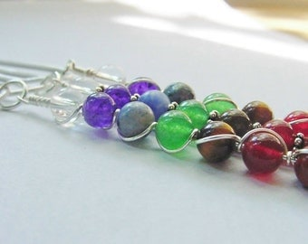 Design your own Pendant ~ Pick any 7 Gemstones, Wire Wrapped Custom Made ~ Chakra, Reiki, Healing Jewelry, Gift Idea