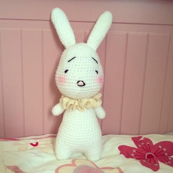 Amigurumi Sleeping Bunny : Cute sleepy crochet amigurumi bunny / doll / plushie / kids