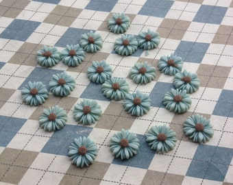 50pc gray color resin Sunflower charms Flower Cabochons Resin Flowers 14mm