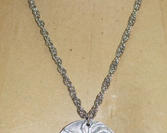 "Big Cast Aluminum Scorpio Scorpion Zodiac  2.25"" Pendant  24"" Silver Tone Chain Necklace"