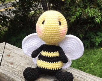 Baby Bumblebee Amigurumi Crochet Pattern. PDF file only, doll not included.