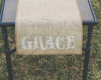 Burlap Table Runner, Table Runner, Grace Table Runner * Free Shipping*