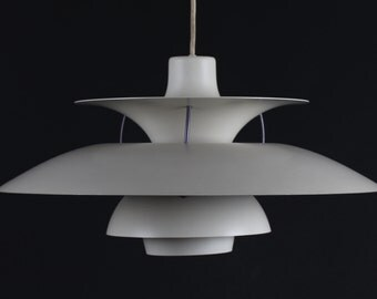 Poul Henningsen PH 5 Pendant old version from Louis Poulsen A/S -  Denmark mid century -