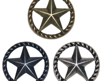 Star with Barbwire Ring Drawer Cabinet Handle Western, Southwest ...