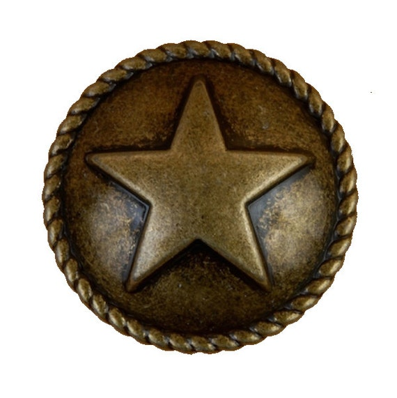 Star with rope drawer pulls or cabinet knobs by for Star cabinet pulls