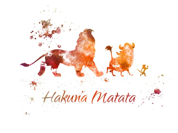 The Lion King Hakuna Matata ART PRINT Illustration Disney
