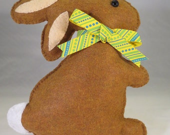Bunny Rabbit, Brown Bunny, Bunny Softie, Child's Rabbit, Child's Room Decor, Child's Stuffed Bunny. Baby Shower Gift