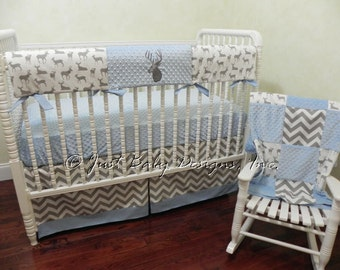 Etsy Your Place To Buy And Sell All Things Handmade - Baby boy deer crib bedding sets