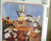 McCalls 8608 Crafts Sewing Pattern Stuffed Bunnies by Anne McKinney