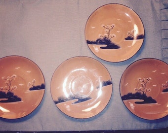 Holiday Sale: Vintage Lusterware plates made in Japan(was 25 now 18)