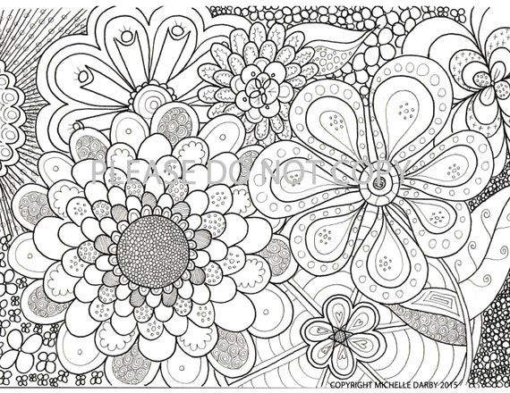 flower power coloring pages - photo#11