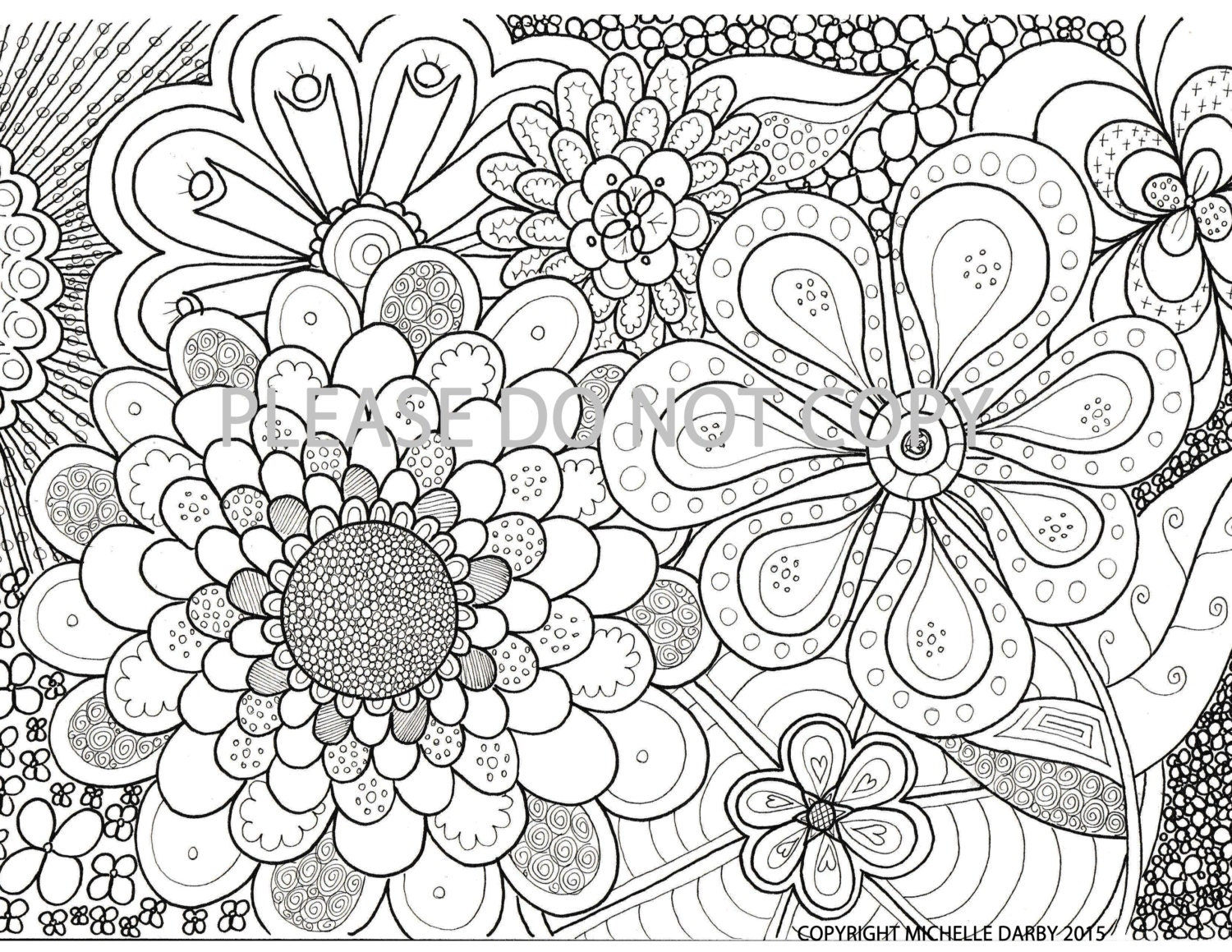 Coloring Pages For Zen : Flower Power Zen Mandala Colouring Page