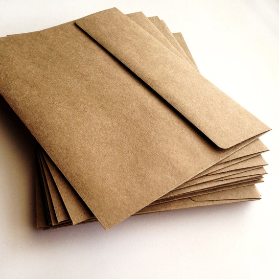 A2 Kraft Envelopes Set of 25 A2 envelope Wedding