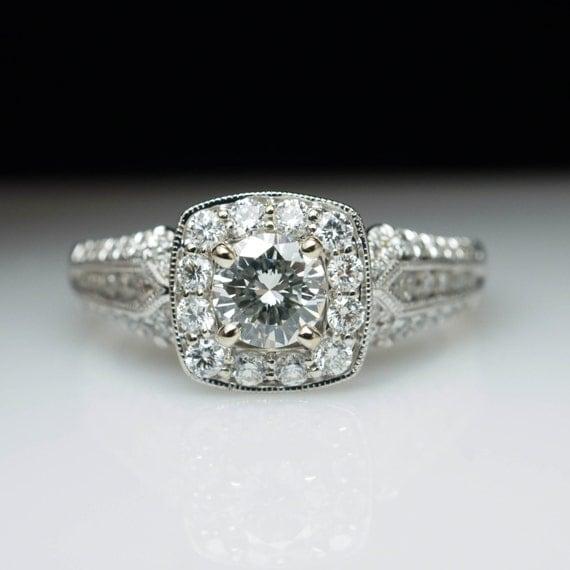 Intricate Vintage Style Diamond Engagement Ring 14k White Gold. Faux Diamond Necklace. High Quality Diamond. Longitude Latitude Bracelet. Women's Jewelry Stores. Line Bracelet. Trollbead Bracelet. Elvish Wedding Rings. 2ct Diamond