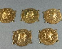 Medieval Knight Brass Connector Bracelet Jewelry Finding  Heraldry(5)