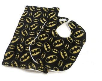 Batman Baby Bib - Batman Burp Cloth - Batman Baby Gift - Batman Baby Shower - Batman baby