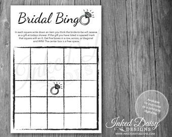 INSTANT DOWNLOAD Bling Shower Game, Bridal Shower Bingo, Bingo Game, Wedding Bingo, Digital Download