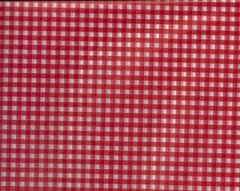 Gingham paperRed white check wax paper sheets for weddings, picnics, country fair, candy wrappers, basket liners , bbq, backyard 4th of July