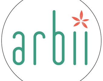 "2,000 - Custom Printed Arbii labels (1,000 1"" round; 1,000 2"" round)"