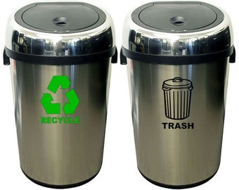 Recycle & Trash Can Decals