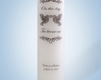 Personalized Wedding Candle