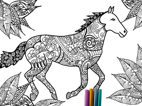 horse adult coloring pages - photo#15