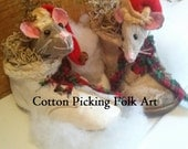 Santa Mouse in Real Baby Shoe,Christmas Decoration