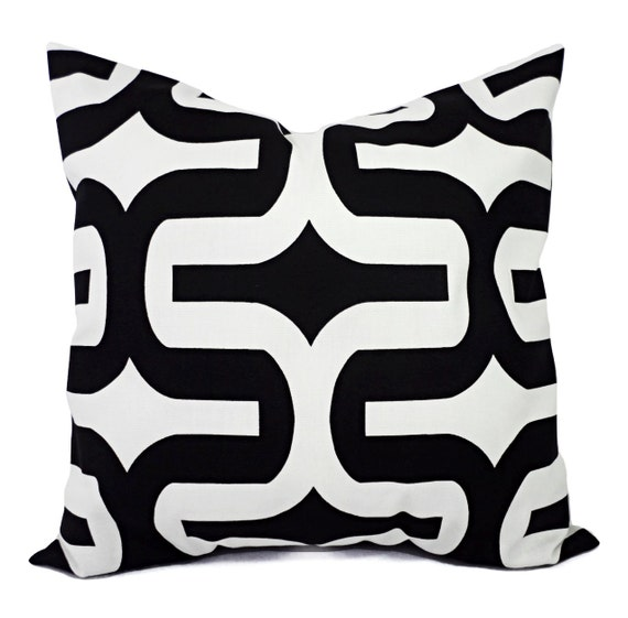 Two Black White Pillow Covers - Two Black and White Pillows 12x16 12x18 14x14 16x16 18x18 20x20 22x22 24x24 26x26 Pillow Covers