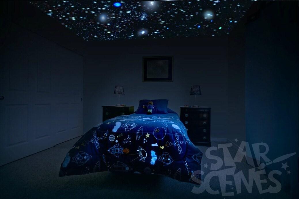 Glow In The Dark Stars Moon Package For Kids Room Or Nursery