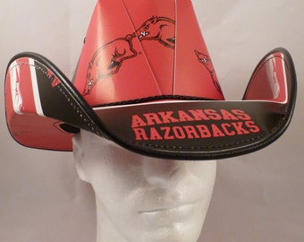 Arkansas Razorbacks cowboy hat made of officially licensed materials