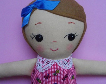 Sweet Handmade Ragdoll - Mini cloth doll Rag Doll Plush Toy Gift for Girls