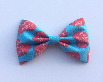 I love lucy hair bow