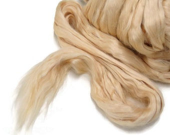 Soybean Silk Fiber Roving , unbleached 1oz